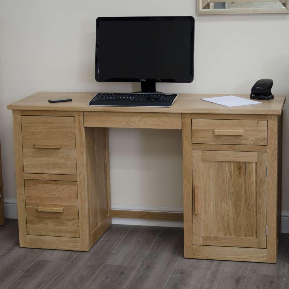 Arden Solid Oak Large Computer Desk