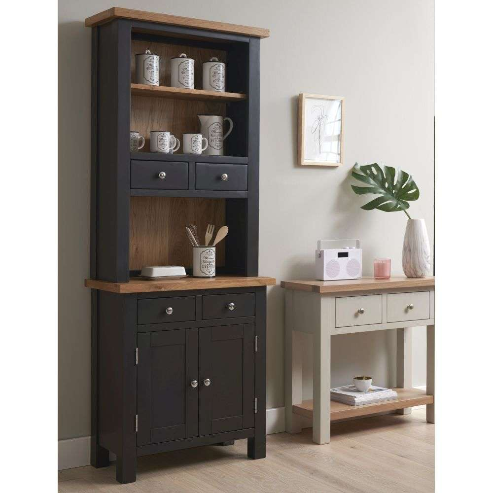 Cheap Kitchen Cabinets Vancouver: Vancouver Compact Black Grey Painted Dresser Display Cabinet