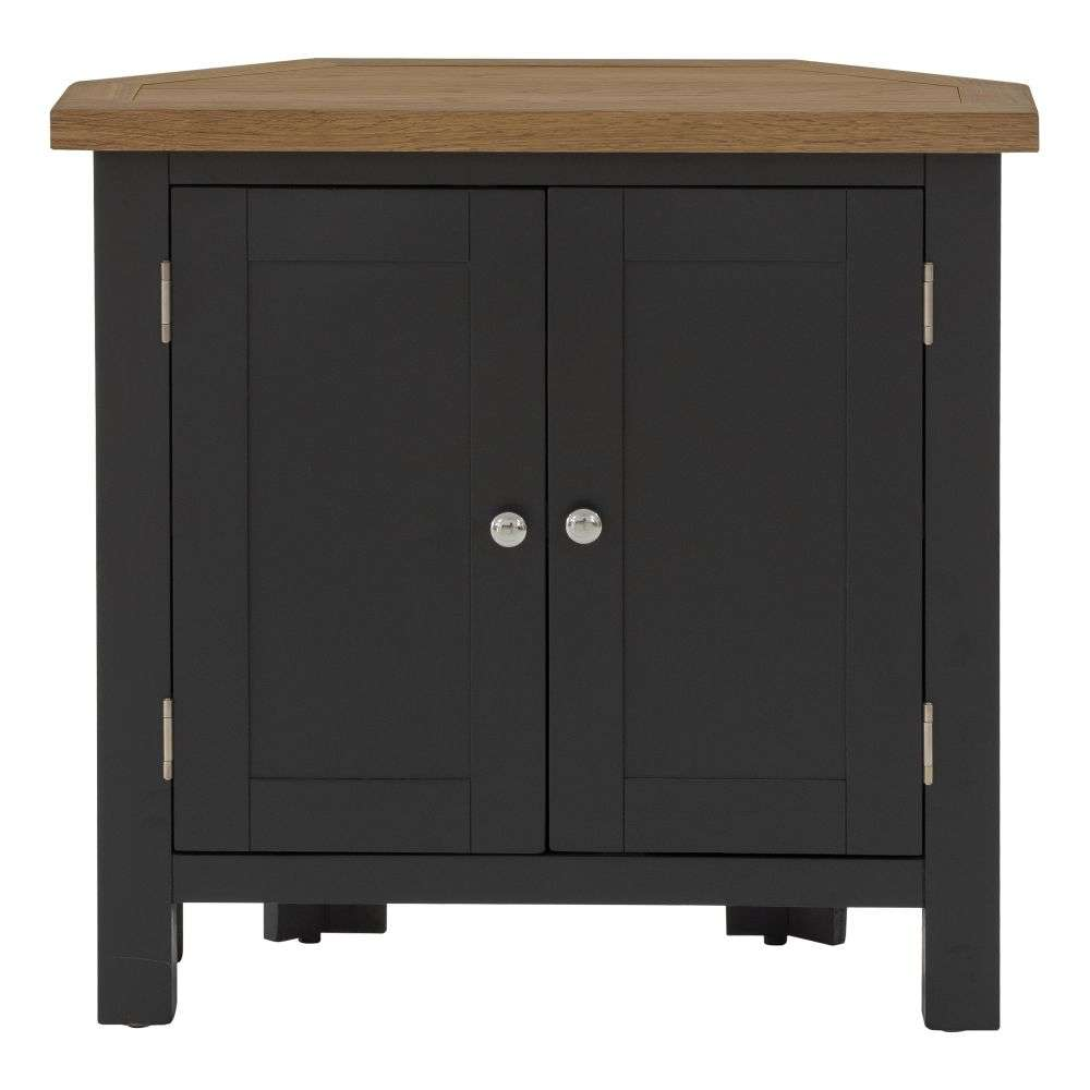 Cheap Kitchen Cabinets Vancouver: Vancouver Compact Black Grey Painted Corner Sideboard