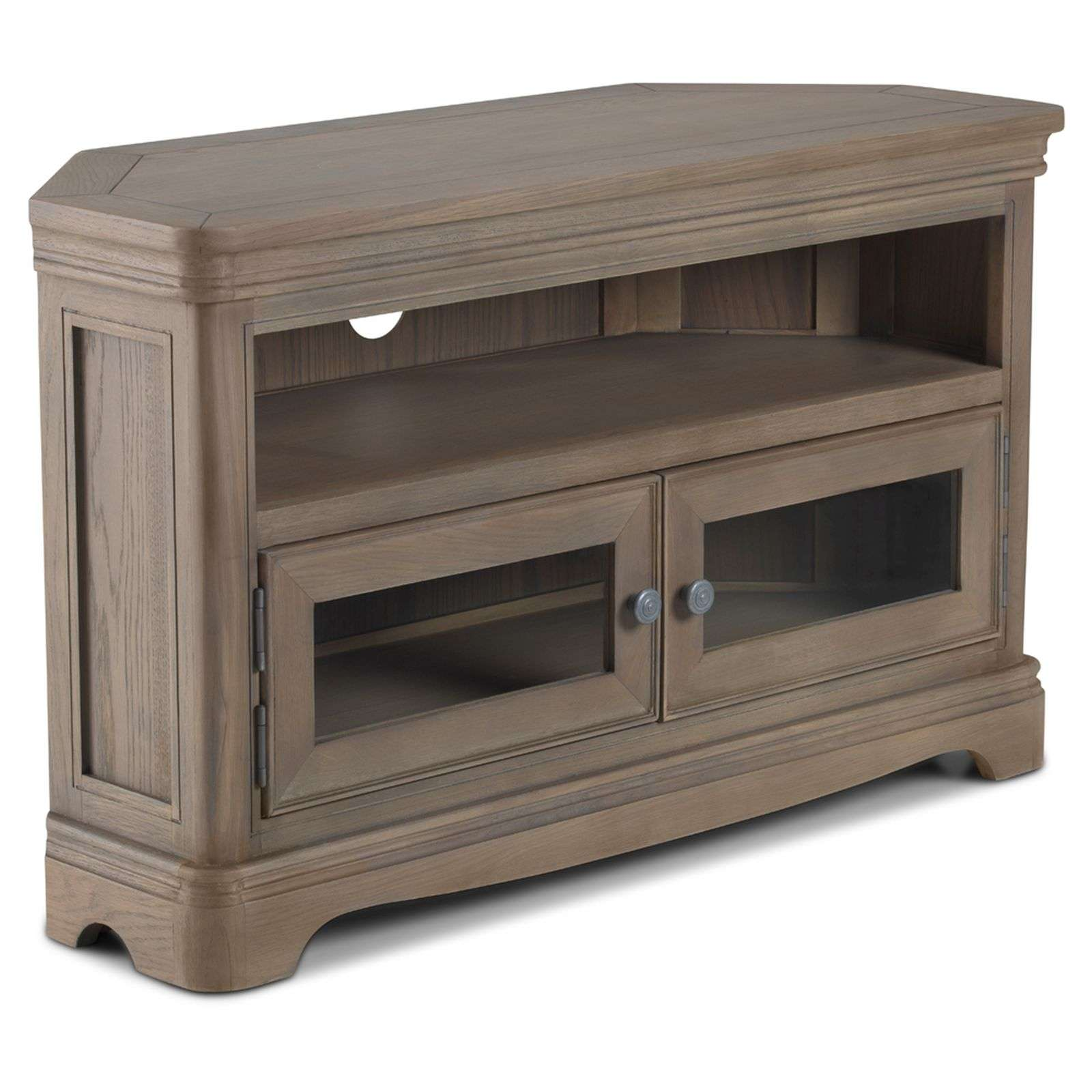 Welford Oak Grey Corner Television Cabinet Cheapest