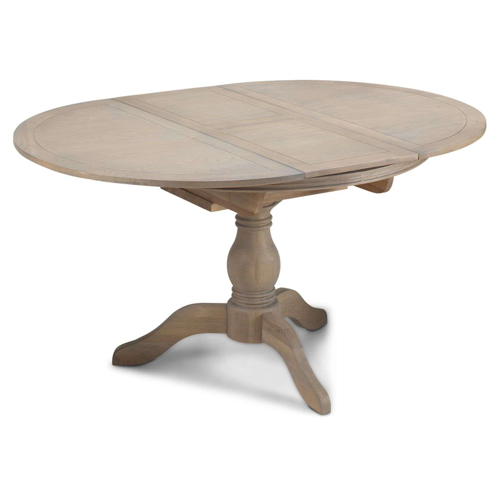 Welford Oak Grey Extending Round Dining Table 110 150cm