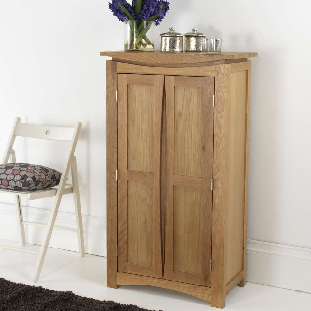 Crescent Solid Oak Shoe Cupboard Cheapest Online