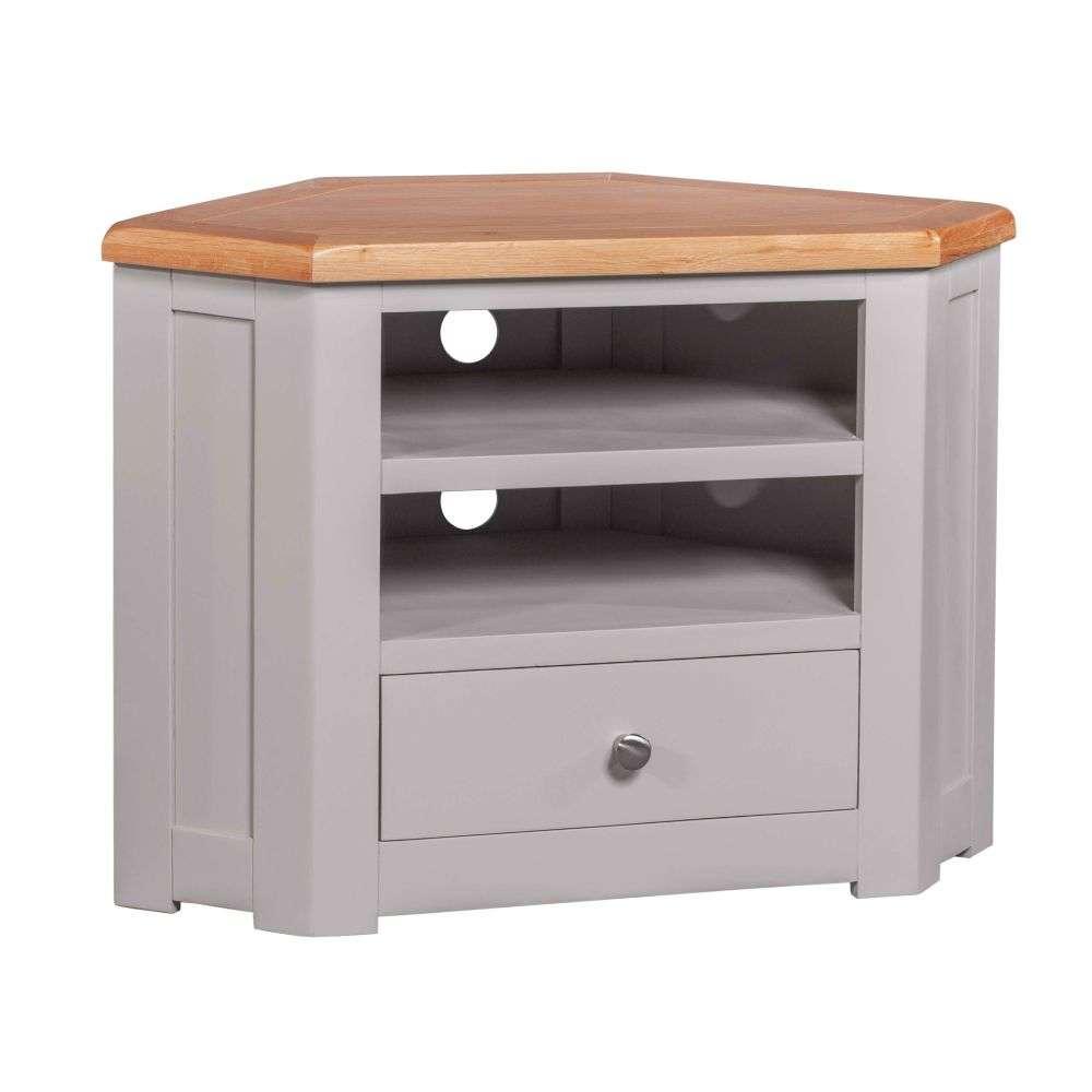 Diamond Grey Painted Corner Television Cabinet - Best Price
