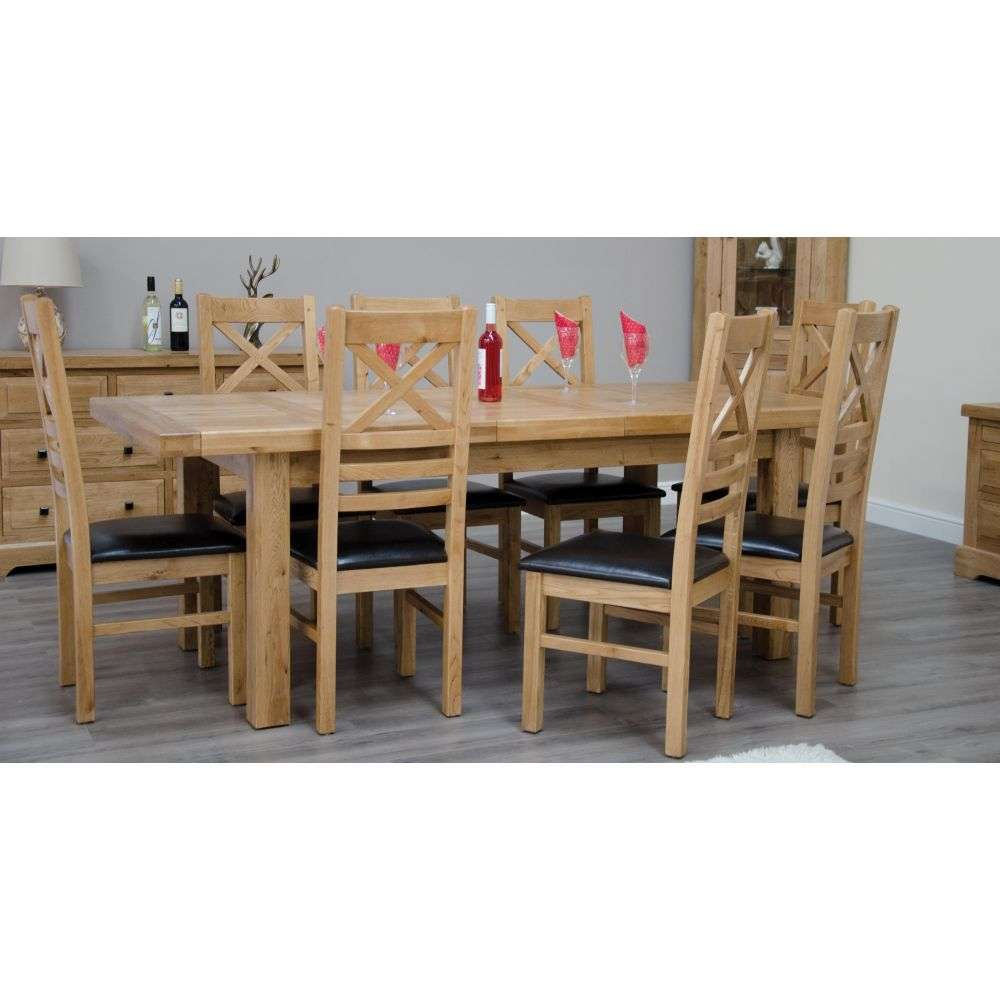 Sensational Deluxe Solid Oak Large Extending Dining Table And 8 Chairs Inzonedesignstudio Interior Chair Design Inzonedesignstudiocom