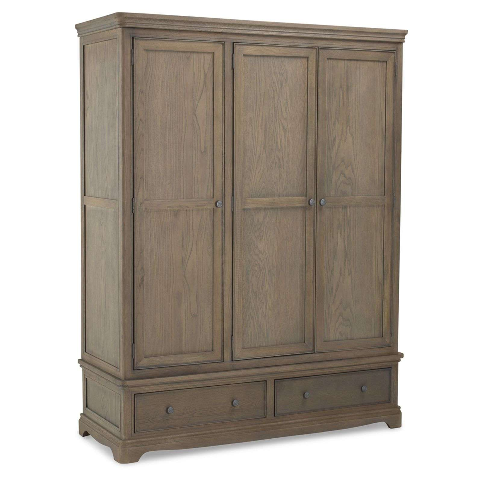 Welford Oak Grey Triple Wardrobe Free Delivery