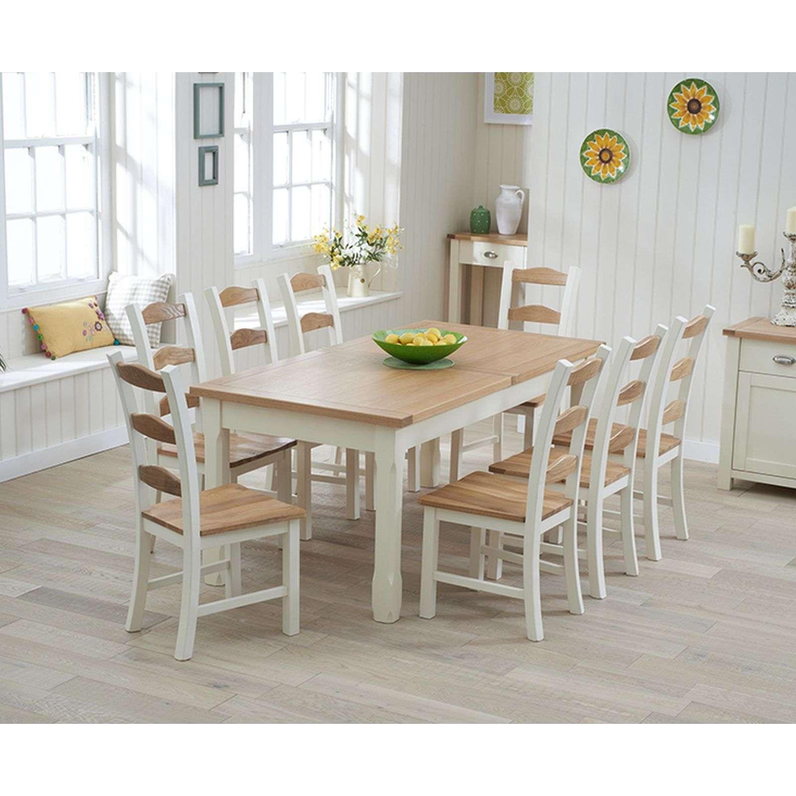 Fine Sandringham Cream Painted Extending Table 130 186Cm With 8 Chairs Inzonedesignstudio Interior Chair Design Inzonedesignstudiocom
