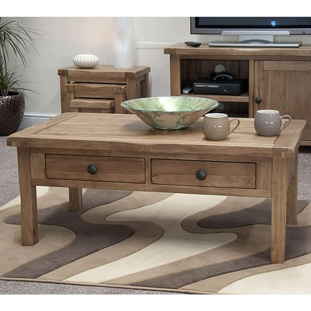 Rustic Solid Oak Coffee Table Sale Price Available