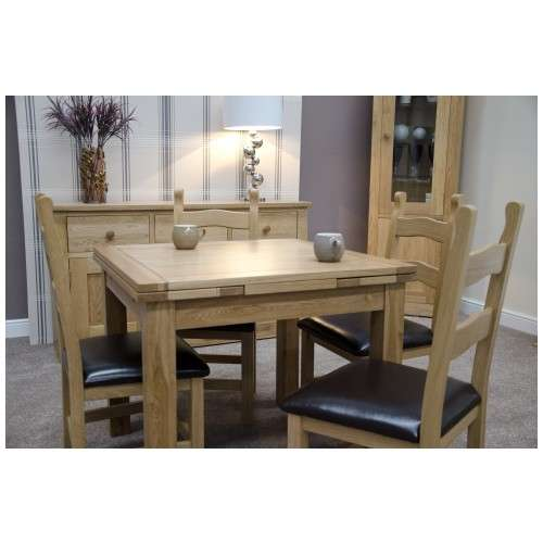 24b625b7fa Garda Solid Oak Extending Dining Table and Chairs Set