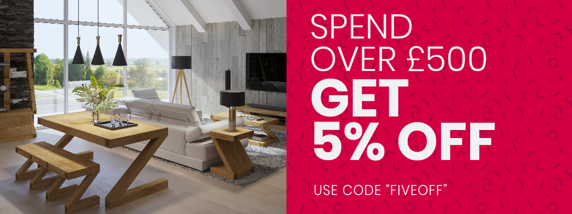 Spend Over £500, Get 5% OFF