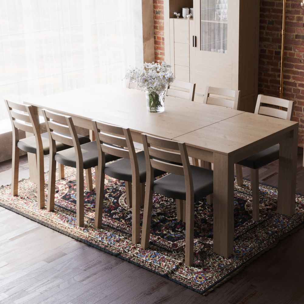 laguna large extending dining table 170 to 220 - sale